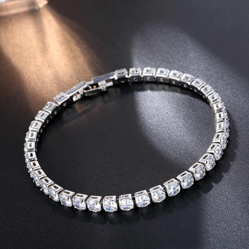CARSINEL New Fashion 5 Colors Cubic Zirconia Bracelet & Bangles For Women Christmas Gifts Lady Silver color Jewelry