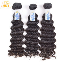 KBL malaysian virgin hair deep wave 3 bundles natural color solon 100% human hair extensions(China)