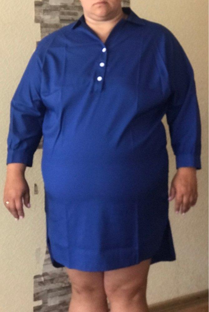 5Xl 6Xl Fashion Women'S Clothing Plus Size Summer Autumn Turn Down Collar Split Dress Blue Sexy Irregular Large Size Shirt Dress photo review