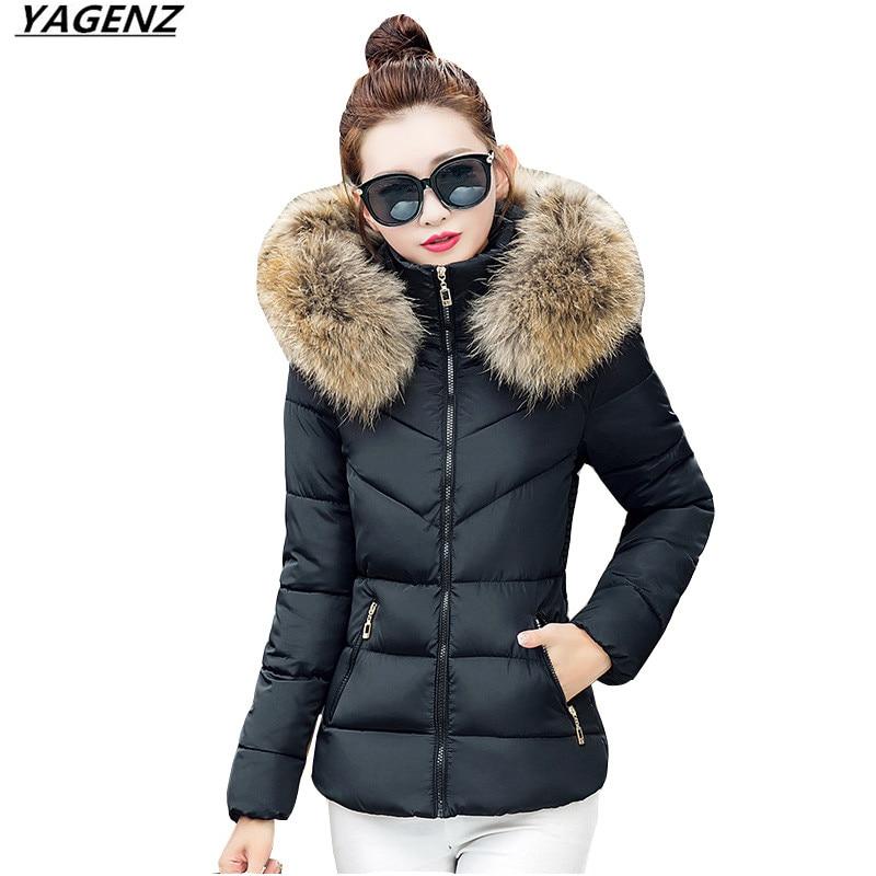 Winterjacke Frauen 2017 Neue Mit Kapuze Pelzkragen Warme Baumwolle - Damenbekleidung - Foto 2