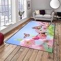 Else розовый цветок дерево Весна Бабочка 3d принт Нескользящая микрофибра гостиная декоративная Современная моющаяся область коврик
