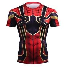 Avengers Infinity War 3D Iron Spiderman T Shirt Men New Summer Compression Crossfit Men T Shirt