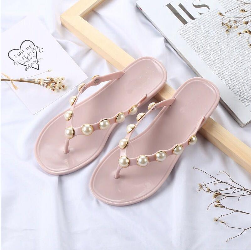 Slippers Summer Beach Slippers Flip Flops Sandals Women Pearl Fashion Slippers Ladies Flats Shoes Beach Female Flip Flops summer women slippers casual shoes flip flops comfortable beach slippers massage sandals women beach shoes ladies fashion shoes