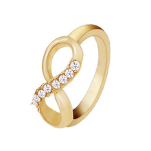 2018  Korean new fashion pour 8 word  alloy with  ring all-match simple ring jewelry luxury temperament female