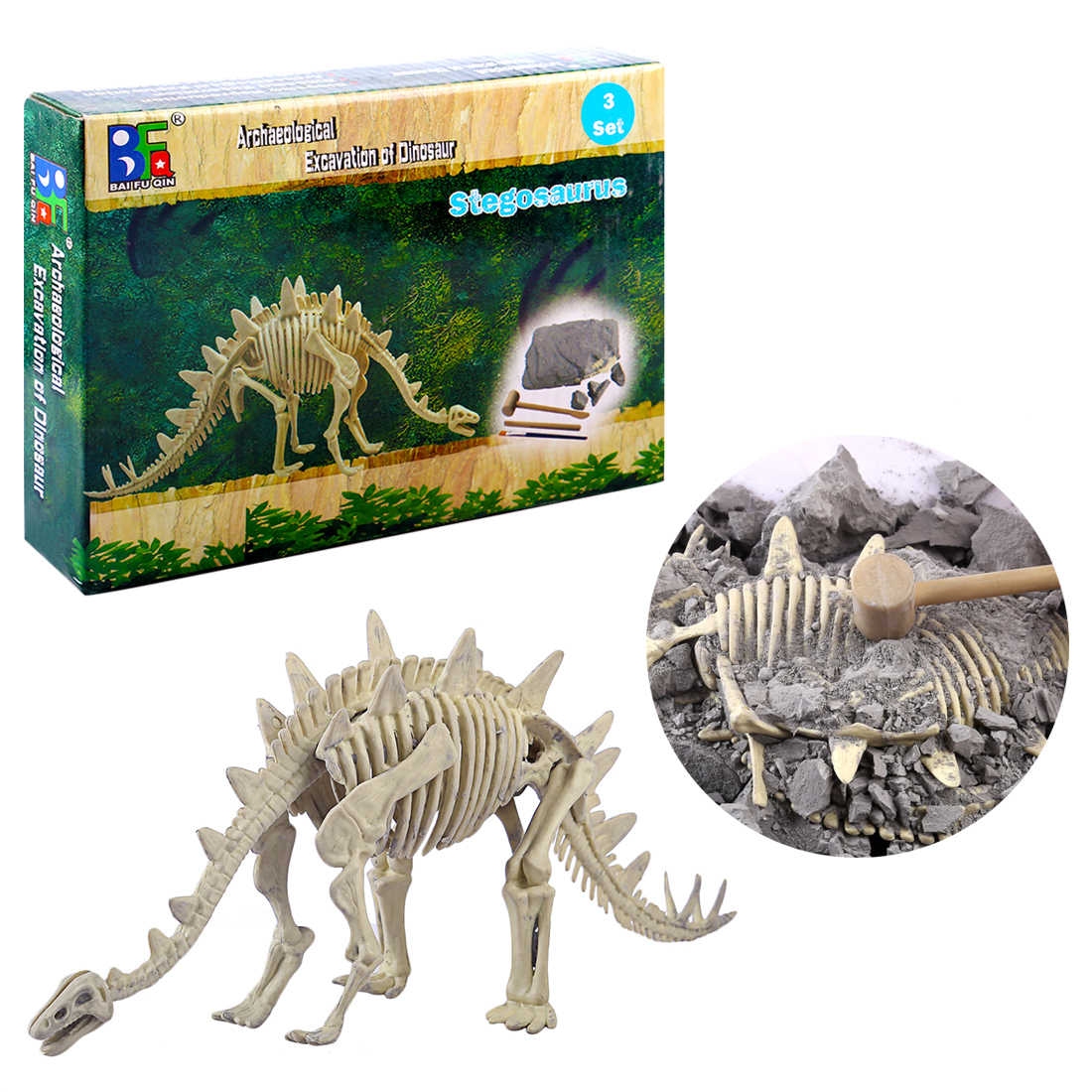 Children Creative Educational Fossil Dinosaur Archaeology Excavation Science History Educational Toys For Children