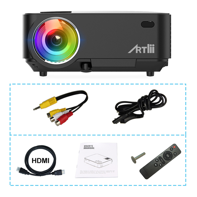 Artlii Movie Projector Home Theater Video Projector Support 1080P LCD To Watch Sports Matches or Movie For Family or Party 4