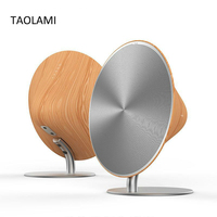 NFC Wireless Bluetooth Speaker Wooden Subwoofer HIFI Stereo Speakers Solo One Touch Surface Sound Box Home Audio Drop Shipping