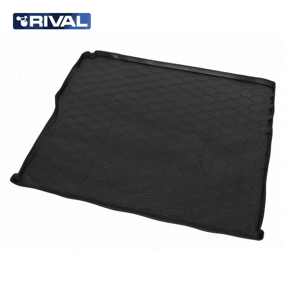 For Lada Vesta SW Cross 2017-2019 trunk mat for cars with raised floor Rival 16006003 for mitsubishi outlander 2013 2019 trunk mat for cars with organizer rival 14002003