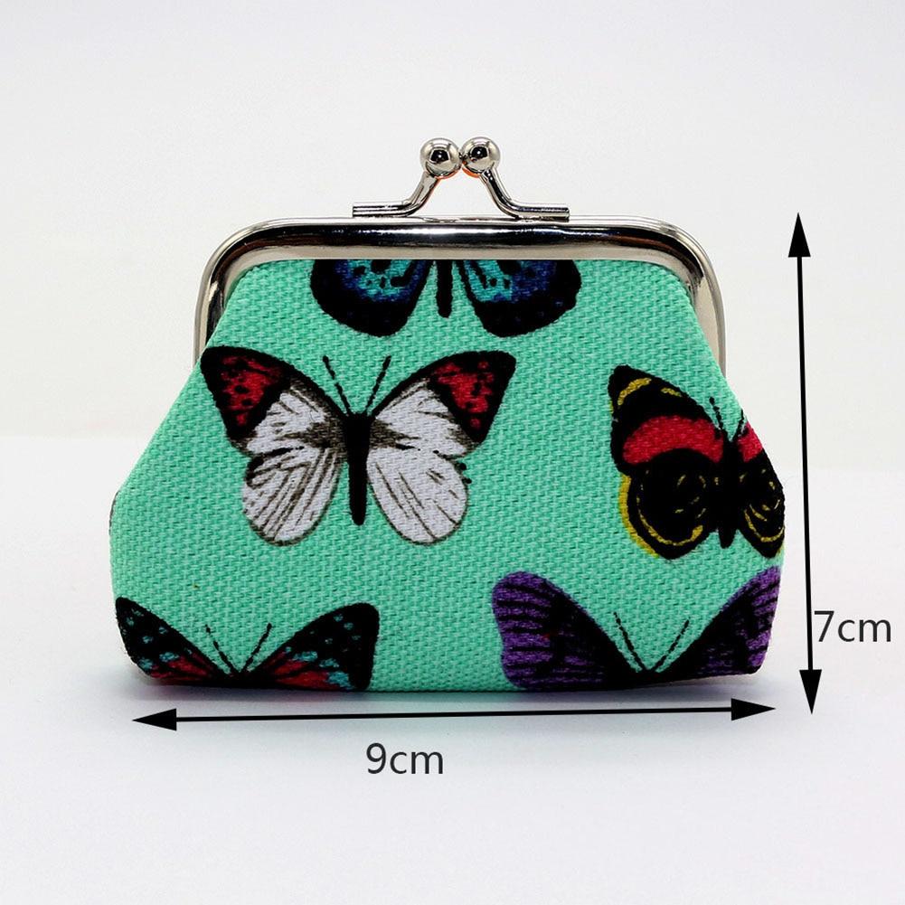 Retro Girl Mini Lightweight Kiss Lock Butterfly Cash Coin Storage Purse Wallet