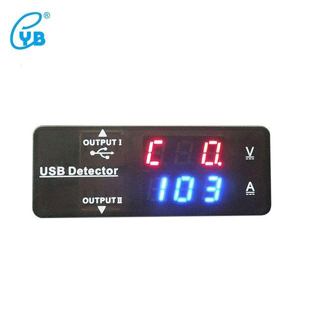 Yb26Va Usb Détecteur De Batterie Testeur Tension Courant Double