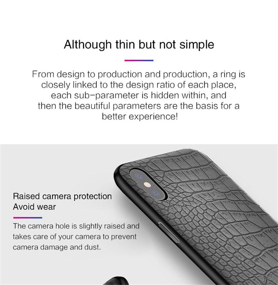 Retro Vintage Phone Bag Case For Iphone X 6 6s 7 7s 8 Plus Crocodile Snake Skin Pattern Soft Protective Cover Shell For iphoneX (4)