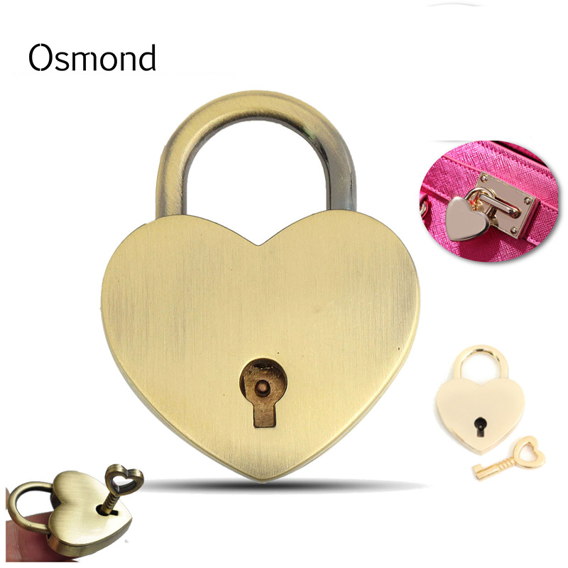 Osmond Cute Heart Shape Clasp Turn Lock For DIY Handbags Metal Buckle Twist Turn Lock Snap Clasps Closure Purse Bag Accessories osmond 37x25mm metal lock hardware cabinet boxes diy bag accessories latch catch toggle bags parts button clasp closure locks