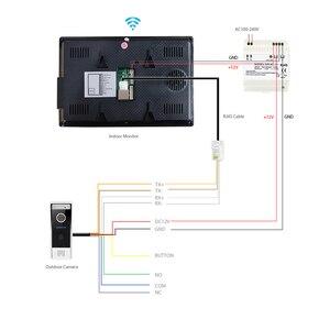 "Image 2 - HOMSECUR 7 ""WiFi IP Wired וידאו דלת כניסת אבטחת אינטרקום 1.0MP עם זיכרון צג עבור אבטחה בבית"