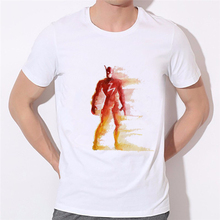 3D Printed Super Hero hand painted series T-shirts Men flash Superman Cosplay Clothing Tops Male