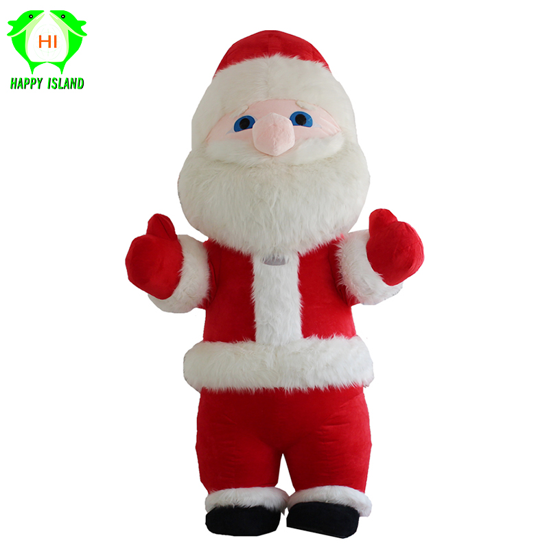 Santa Claus Inflatable Costume With 2.6M-3M Tall Customize For Adults Inflatable Christmas Clothing Suitable for 1.7m-1.9m Men