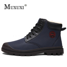 Men Boots Casual Shoes Winter Fashion Warm Snow Work Keep Waterproof Skin