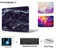 keyboard plastic case Plastic Hard Case Cover Laptop Shell+Keyboard Cover+Screen Film+Dust Plug For Macbook Air 11 A1465 A1370 13 Air A1466 A1369 (1)