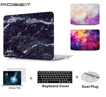 Plastic Hard Case Cover Laptop Shell+Keyboard Cover+Screen Film+Dust Plug For Macbook Air 11 A1465 A1370 13 Air A1466 A1369 mr northjoe ultra slim crystal hard case keyboard cover anti dust plug set for macbook air 11 6