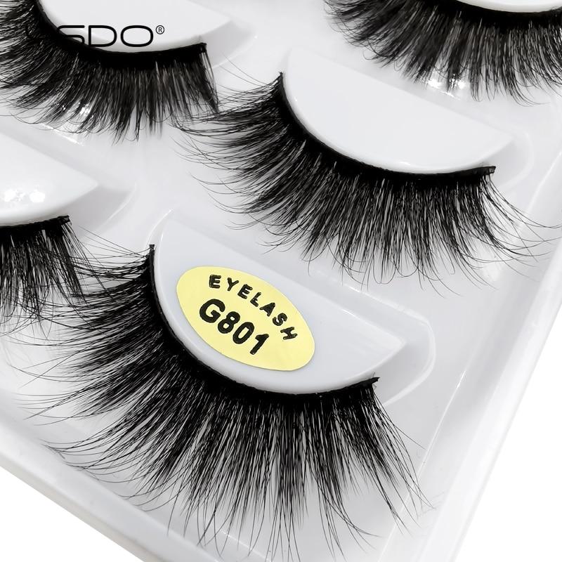 5 Pairs 100% Real Fake Mink EyeLashes 3D Natural False EyeLashes 3D Mink Lashes Soft EyeLash Extension MakeupKit Cilios G801