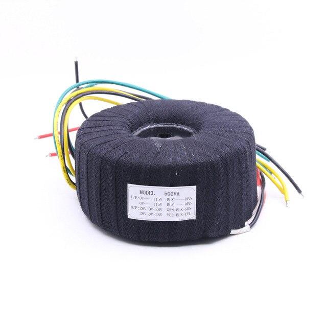 500 W Siyah Kumaş Toroid Trafo NAP200 Amplifikatör 28V 0 28V 28V 0 28V Ses Güç Trafosu