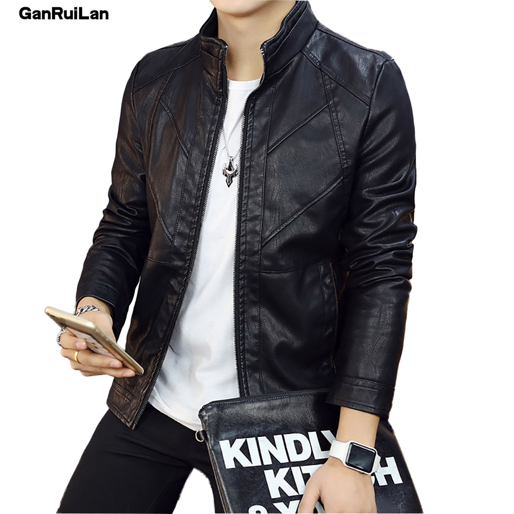 2018 New Arrival Leather Jackets Men's Jacket Outwear Men's Coats Spring Autumn PU Jacket De Couro Coat Size M-3XL B0192