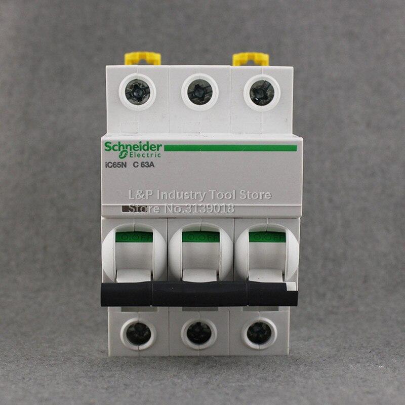 100% New Original Schneider IC65N 3P C63A A9F18363 Vacuum