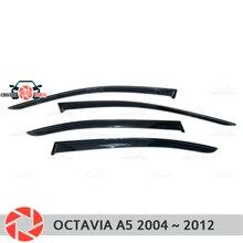 Окна отражатель для Skoda Octavia A5 2004 ~ 2012 дождь дефлектор грязи Защитная оклейка автомобилей украшения аксессуары для литья под давлением