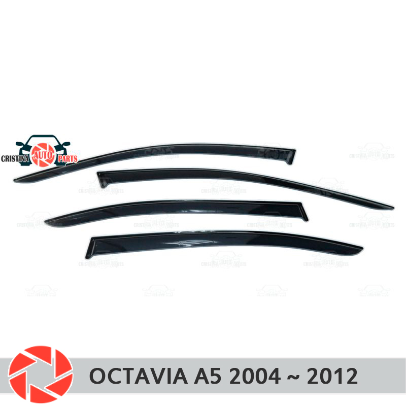 Window deflector for Skoda Octavia A5 2004~2012 rain deflector dirt protection car styling decoration accessories molding unpainted white injection molding bodywork fairing for honda vfr 1200 2012 [ck1051]