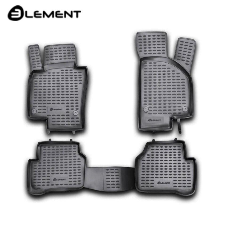 For Volkswagen Passat B6 2005-2010 floor mats into saloon 4 pcs/set Element NLC5106210kh морозильный шкаф shivaki fr 051w