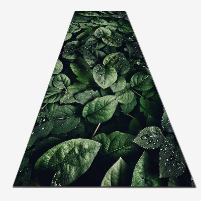 Else Green Tropical Forest Jungle Leaves 3d Print Non Slip Microfiber Washable Long Runner Mat Floor Mat Rugs Hallway Carpets