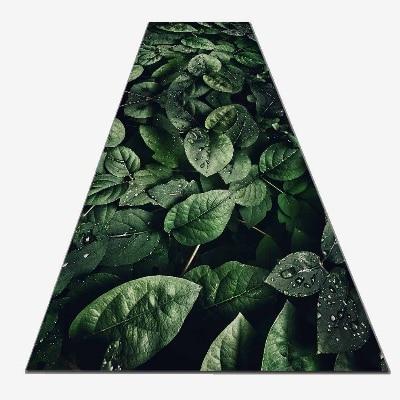 Else Green Tropical Forest Jungle Leaves 3d Print Non Slip Microfiber Washable Long Runner Mat Floor Mat Rugs Hallway Carpets