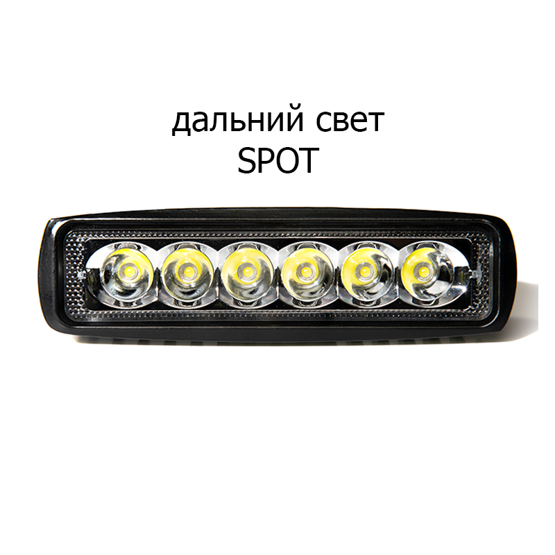 Image 4 - 2pcs 18W 12 24V 16 cm LED headlights for auto motorcycle quad bike truck boat special tractor trailer NIVA UAZ 4x4 offroad-in Light Bar/Work Light from Automobiles & Motorcycles