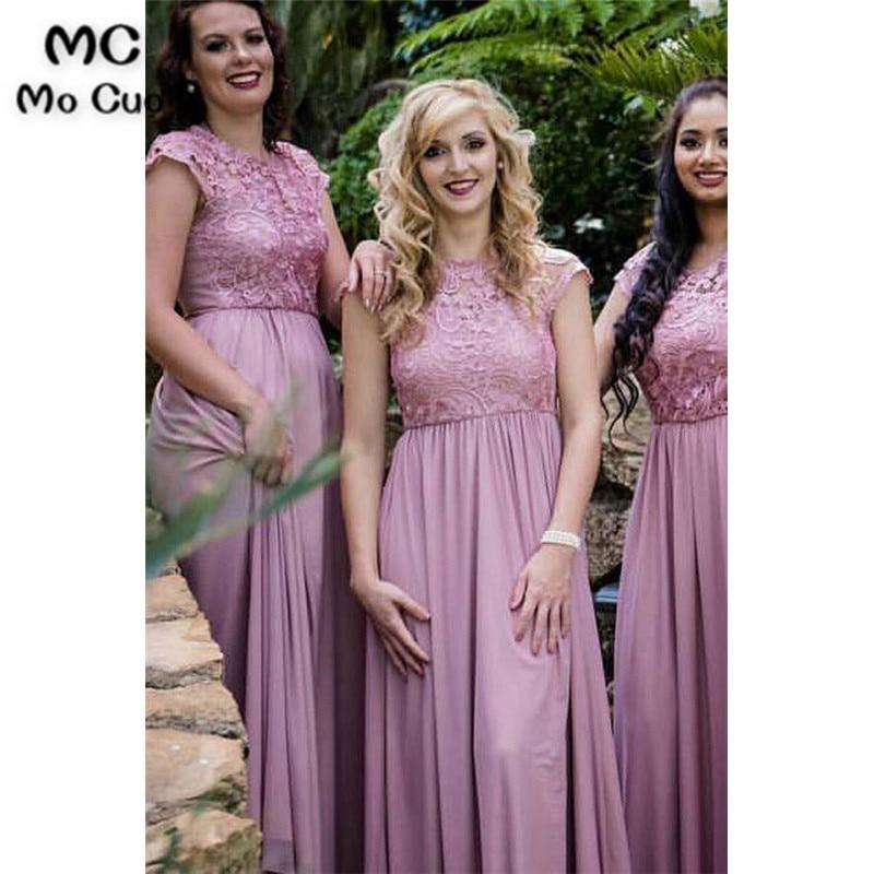 In Stock 2019 Lace   Bridesmaid     Dress   Off shoulder Wedding Party Guest   Dress   vestido longo de festa Chiffon   Bridesmaid     Dresses