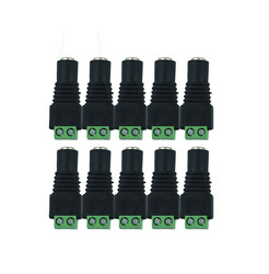 10pcs/lot 5.5x2.1mm CCTV camera Female DC Power Jack Plug Adapter For 5050 3528 5630 5730 Single Color LED Strip Light