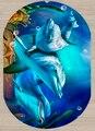 Sonst Blau Unter Meer Schwimmen Dolphins 3d Muster Print Non Slip Mikrofaser Wohnzimmer Moderne Oval Waschbar Bereich Teppich Teppich-in Teppich aus Heim und Garten bei