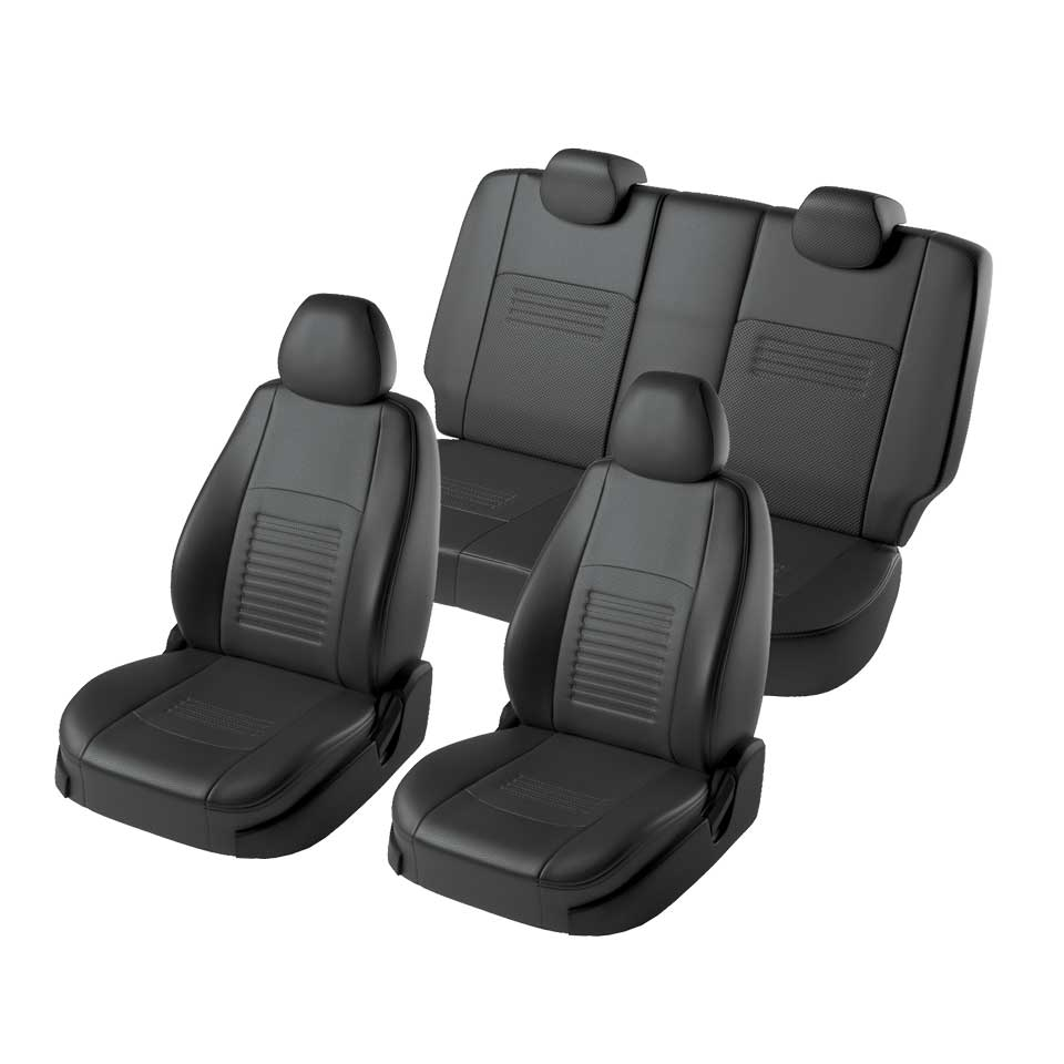 For Ford Focus 2 2004-2010 Ambiente/Trend special seat covers without rear armrest Model Turin eco-leather