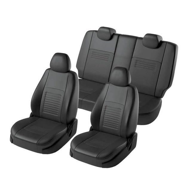 Для Ford Focus 2 2004-2010 Ambiente/Trend специальные чехлы для сидений без подлокотник для заднего сиденья модель Турин эко-кожа