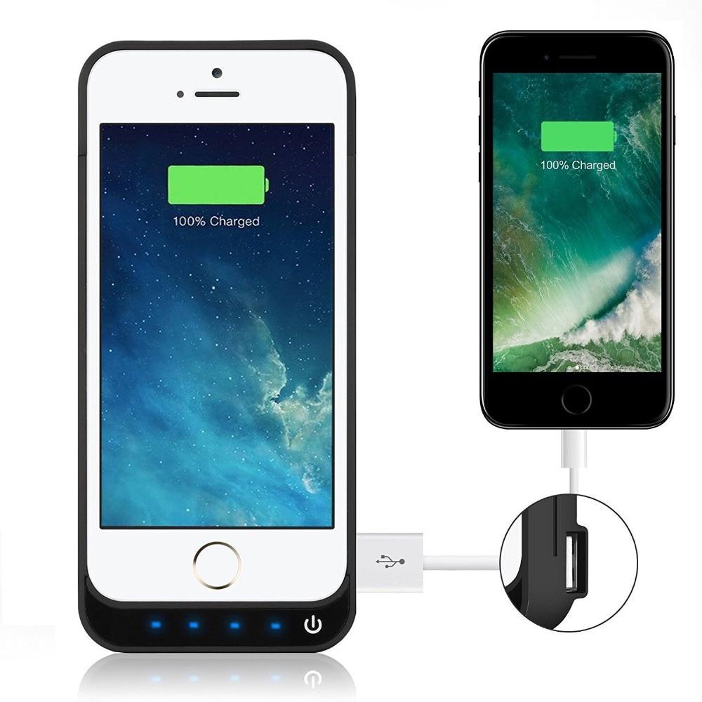 8 Farben QA Power fall Für iPhone 5 s 5 5c 4200 mah Tragbares Ladegerät Wiederaufladbare Externe Unterstützungsbatterieleistung Bank portatil