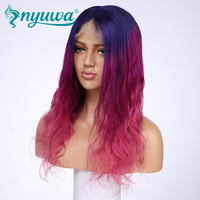 Nyuwa 3 т предварительно сорвал Синтетические волосы на кружеве натуральные волосы парик для женщин 130 Плотность Волосы remy натуральных волос с