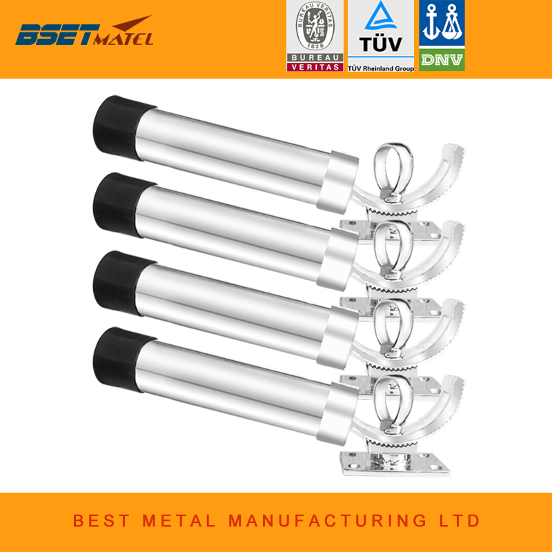 4 Pieces/ Lot Adjustable Removable Deck Mount stainless steel 316 fishing rod holder marine hardware for boat and yacht fishing vacuum flask thermos bottle holder 304 stainless steel boat yacht ship trailer car marine hardware