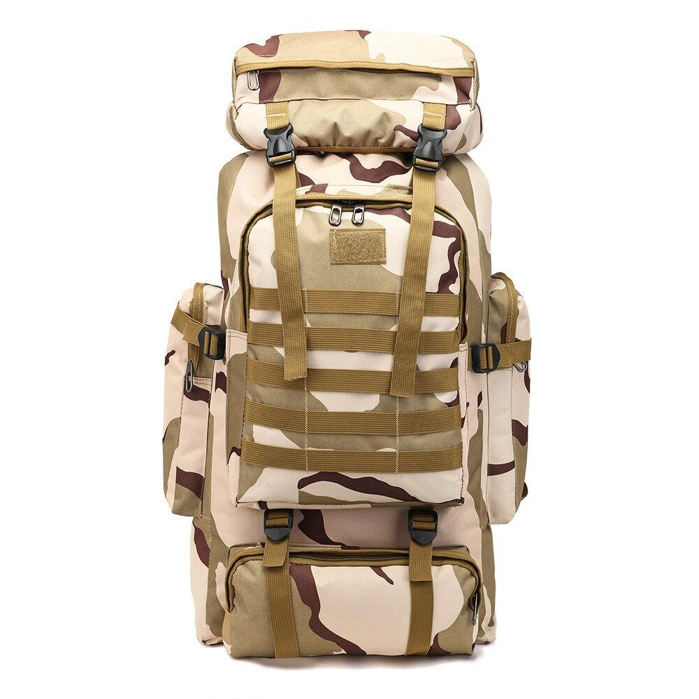 Backpack Big Capacity 80l Backpack Camouflage Outdoors Shoulders Men Travel Bags Luggage Duffel Weekend Duffle Bag Organizer Sac
