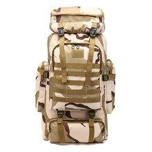 Backpack Big Capacity 80l Camouflage Outdoors Shoulders Men Travel Bags Luggage Duffel Weekend Duffle Bag Organizer Sac