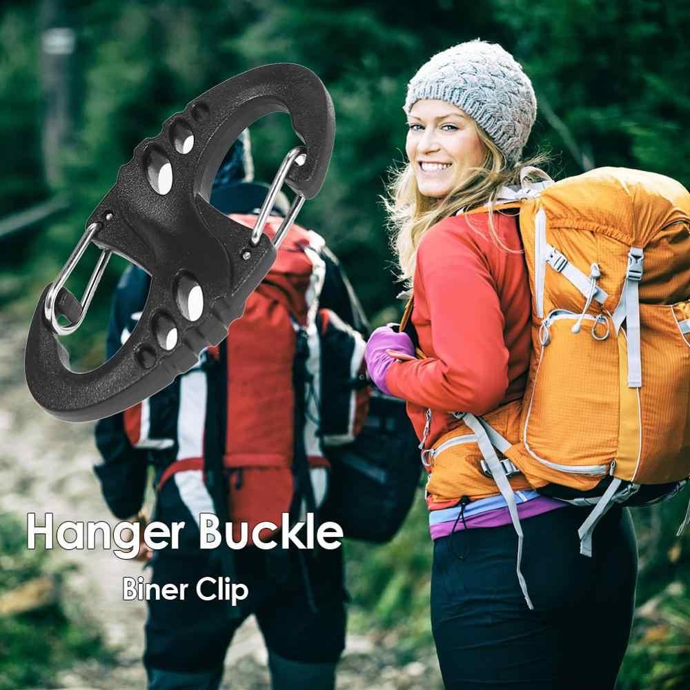 Mosquetón 8 S forma de broche de presión al aire libre Camping Molle mochila suspensión hebilla de liberación rápida llavero herramientas al aire libre