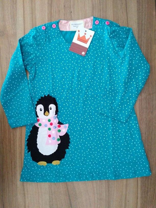 Long Sleeve Unicorn Dress Baby Girls Clothes 2018 Brand Winter Kids Dresses for Girls Animal Applique Princess Dress Christmas