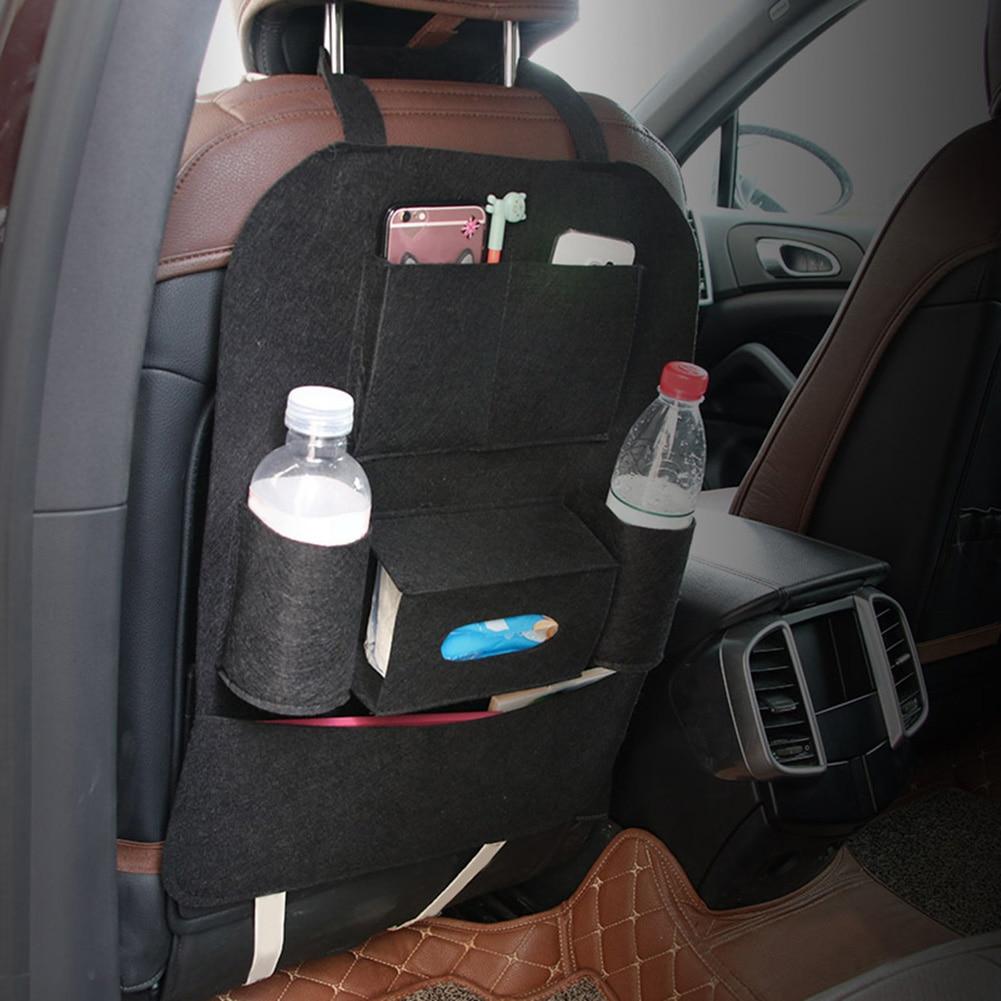 Multi-functional Chair Back Seat Car Hanging Storage Bag Anti-kick Pockets Stowing Tidyin
