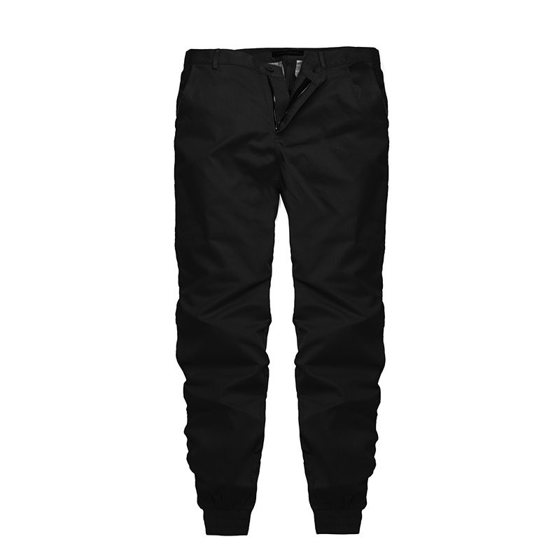 Autumn Spring Mens Hip Hop Casual chinos Pants 100 Cotton Trousers High Quality Slim Fit Plain