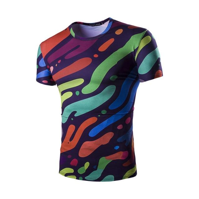543be94b4 men women milk fiber camouflage dark blue 3D painting round collar short  sleeve bike jersey