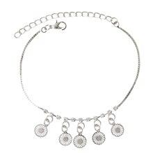 Charm Anklets for Women Wheel Pendant Tassel Pendant Barefoot Sandals Foot Jewelry Alloy Ankle Bracelet