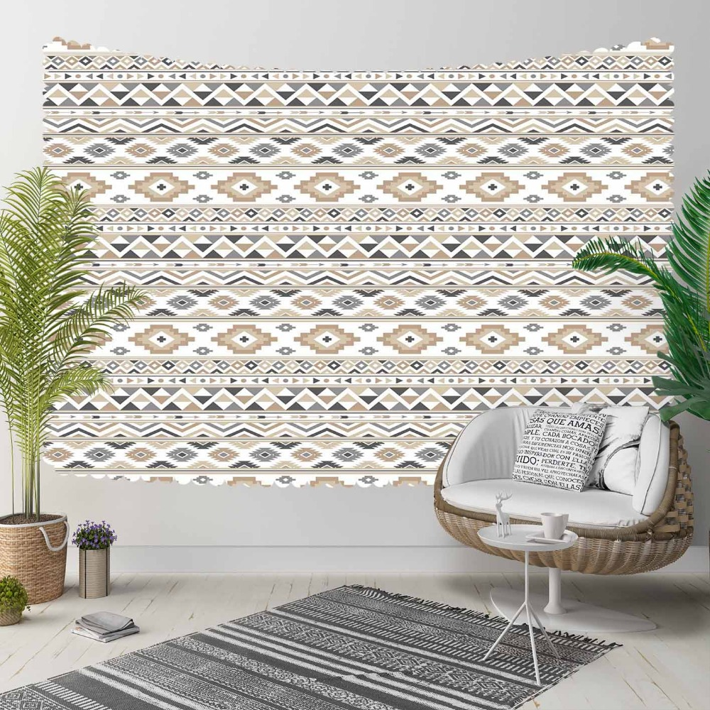 Else Brown Blue Yellow Authentic Vintage Turkish 3D Print Decorative Hippi Bohemian Wall Hanging Landscape Tapestry Wall Art
