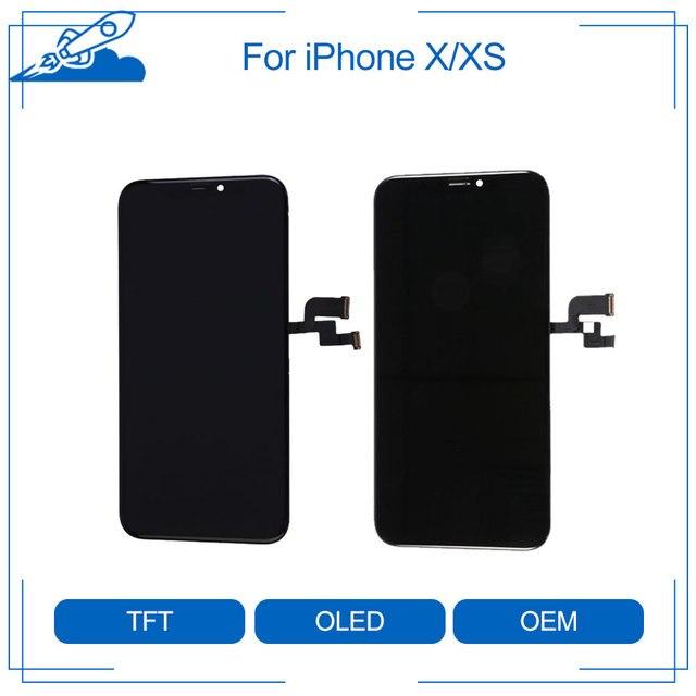 Elekworld Getest Werken Goed Top Amoled Tft Rx Voor Iphone X Xs Lcd scherm Vervanging Met 3D Touch Digitizer montage
